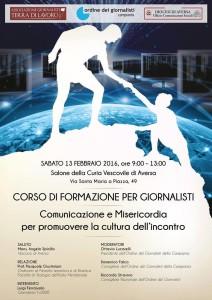 """CORSO DI FORMAZIONE PER GIORNALISTI """"COMUNICAZIONE E MISERICORDIA PER PROMUOVERE LA CULTURA DELL'INCONTRO"""""""