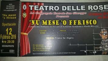 LA COMPAGNIA TEATRALE SAN GIUSEPPE PRESENTA: 'NU MESE 'O FFRISCO