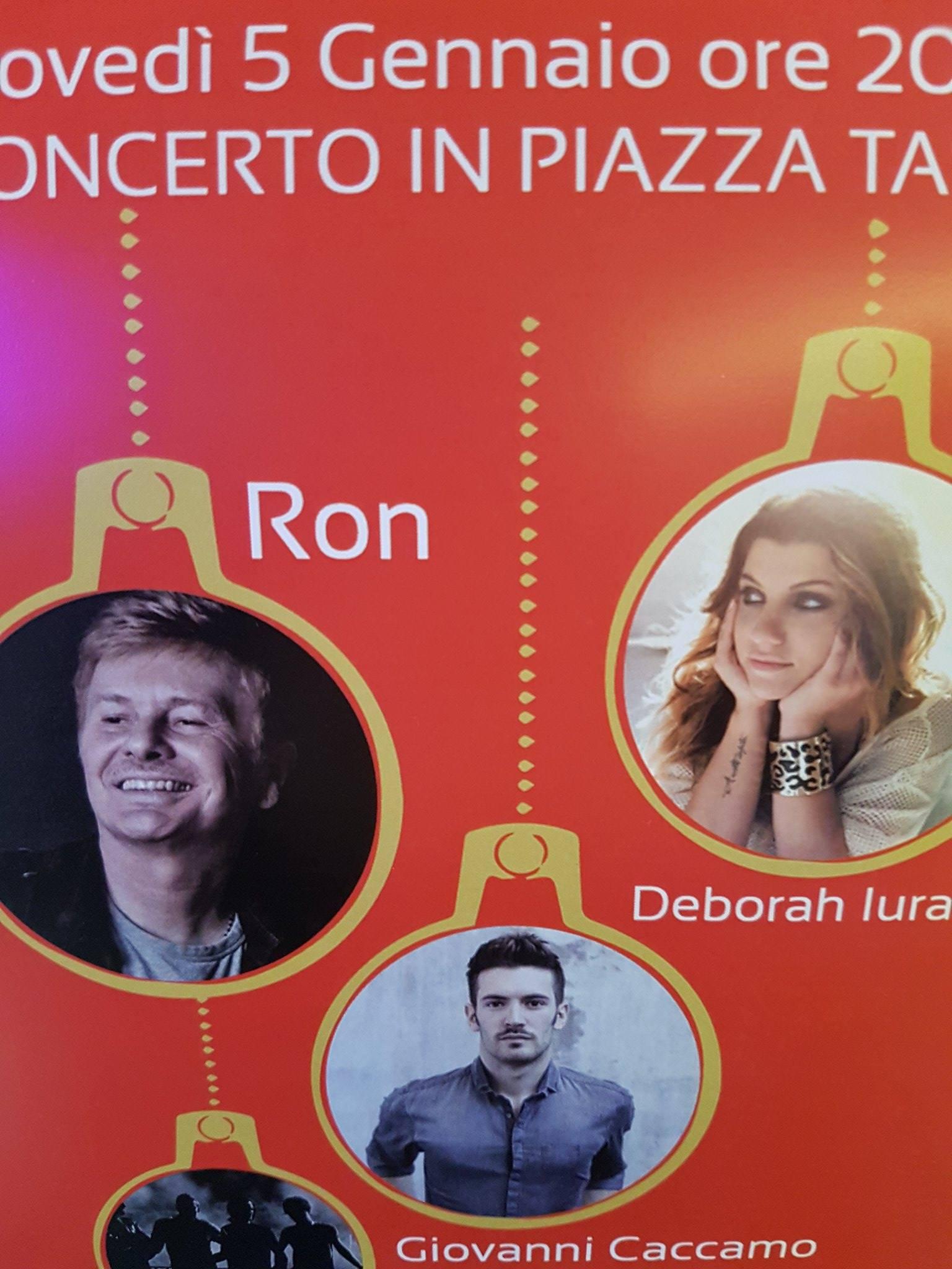 """È """"Piazza Grande"""" a Sorrento: RON in concerto per la spettacolare rassegna """"M'illumino d'Inverno"""""""