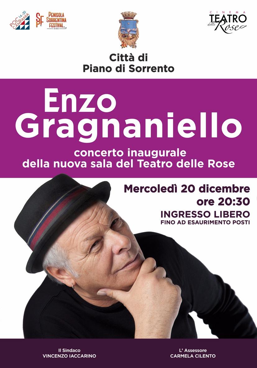 PIANO DI SORRENTO: ENZO GRAGNANIELLO IN CONCERTO AL DELLE ROSE