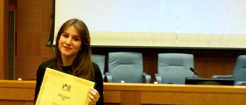 ROMA: PRESTIGIOSO RICONOSCIMENTO AD UNA GIOVANE STUDENTESSA MASSESE