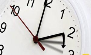 ORA LEGALE: DOMENICA 25 MARZO LANCETTE 60 MINUTI AVANTI