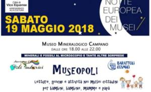 """VICO EQUENSE: NOTTE EUROPEA DEI MUSEI CON """"MUSEOPOLI"""""""