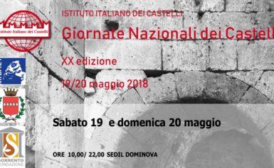 SORRENTO – GIORNATE NAZIONALI DEI CASTELLI  19/20 Maggio 2018 – XX Edizione