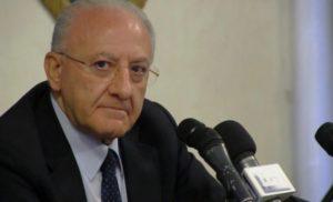 """SANITÀ CAMPANA – IL GOVERNATORE DE LUCA DICE: """"ABBIAMO 1,3 MILIARDI PER EDILIZIA MA MINISTERO NON CI RISPONDE"""""""
