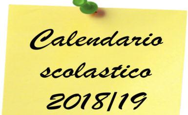 ISTRUZIONE – APPROVATO IL CALENDARIO SCOLASTICO REGIONALE 2018/2019