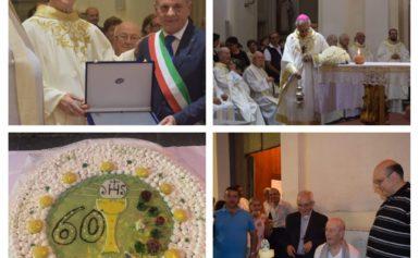 MASSA LUBRENSE: LA COMUNITA' RELIGIOSA HA FESTEGGIATO IERI I SESSANT'ANNI DI SACERDOZIO DI DON GIUSEPPE ESPOSITO
