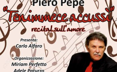 Con Piero Pepe Villa Fondi diventa arena teatrale martedi 24 alle 21,00