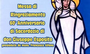 MASSA LUBRENSE: NELL'L'ANTICA CATTEDRALE SI  FESTEGGIANO I 60 DI SACERDOZIO DI DON GIUSEPPE ESPOSITO