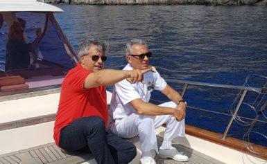 MASSA LUBRENSE: L'AMMIRAGLIO PETTORINO IN VISITA NELL'AREA MARINA PROTETTA