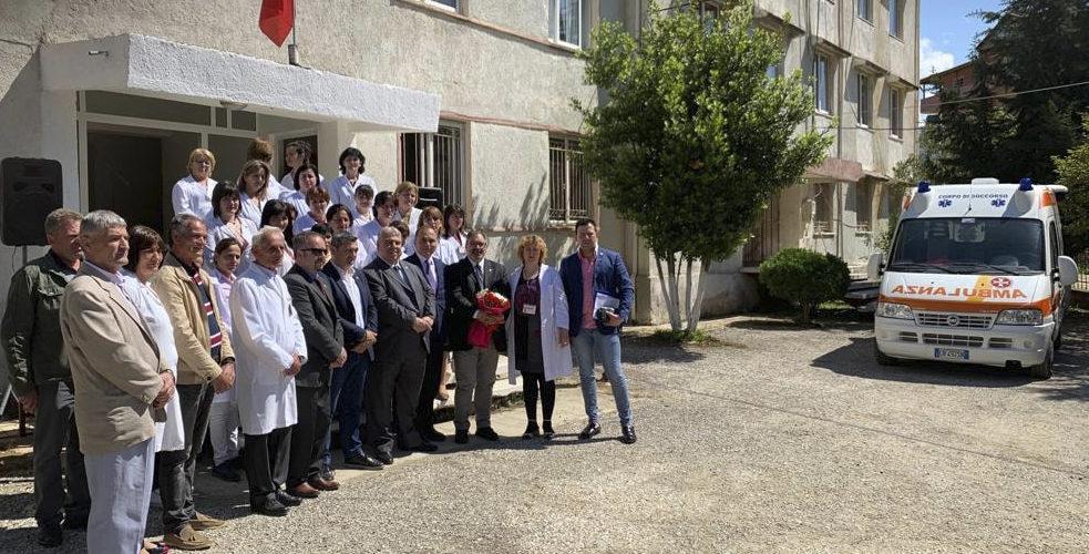 MISSIONE UMANITARIA IN ALBANIA, DONAZIONE DI UN'AMBULANZA E ALTRO MATERIALE ED ATTREZZATURE MEDICHE E SANITARIE.