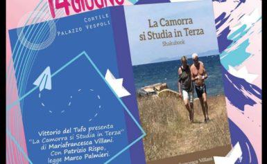"""MASSA LUBRENSE – VENERDÌ PROSSIMO LA PRESENTAZIONE DEL LIBRO """"LA CAMORRA SI STUDIA IN TERZA"""" ORE 19 A PALAZZO VESPOLI."""