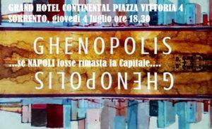 Sorrento, Istituto Tassiano: Con Ghenopolis di Gennaro Castaldo Napoli torna Capitale