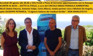 Lo scrittore Giuseppe Petrarca prossimo ospite del Cineform Endas a Villa Fondi
