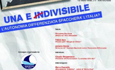 """TORRE ANNUNZIATA, LICEO GIORGIO DE CHIRICO : LUNEDI' 16 CONVEGNO SU """"L'AUTONOMIA DIFFERENZIATA"""""""