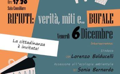 MASSA LUBRENSE: VENERDI' 6 DICEMBRE NELLA SALA DELLE SIRENE SI PARLERA' DEL CICLO DEI RIFIUTI