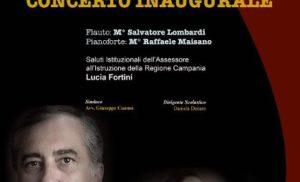 """SORRENTO: SPETTACOLO D'ECCEZIONE DEL FLAUTISTA SALVATORE LOMBARDI  E DEL PIANISTA RAFFAELE MAISANO AL LICEO ARTISTICO MUSICALE """"F. GRANDI"""" PER L'INAUGURAZIONE DELL' AULA MAGNA """"FRANCESCO SCARPATO"""""""