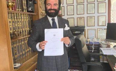 SORRENTO: ANCORA UN GROSSO RICONOSCIMENTO PROFESSIONALE PER L'AVV. LUIGI ALFANO: IL MASTER DI II LIVELLO IN CRIMINOLOGIA E DIRITTO PENALE