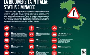WWF: BIODIVERSITÀ IN ITALIA, UN PUZZLE SMONTATO E SOTTO ASSEDIO