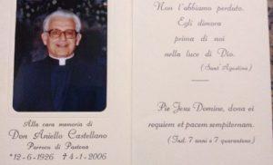 MASSA LUBRENSE: IN RICORDO DI DON ANIELLO CASTELLANO A QUINDICI ANNI DALLA SUA SCOMPARSA