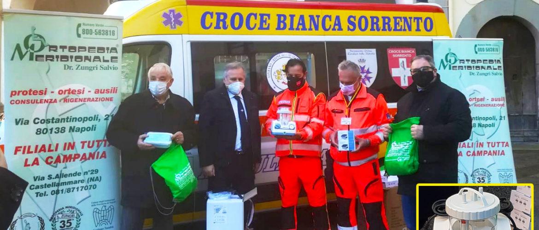 VICO EQUENSE – DONAZIONATO MATERIALE SANITARIO ALLA CROCE BIANCA SORRENTO